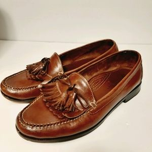 COLE HAAN Dwight Bridle Leather Tassel Moc Loafer